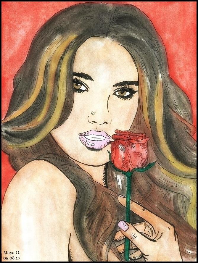 Lily Aldridge by MayaOsina